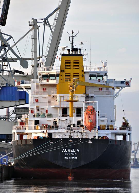 AURELIA. Rakennettu 2006, Croatia. 168X26m. Öljy/kemikaalitankkeri. Pääkoneet 6M32C, 3000 kW ja 8M32C, 4000 kW, yht 7000 KW. Säiliökapasiteetti 28596 m3. Carl Büttner Shipmanagement GmbH. Lippu: Saksa.
