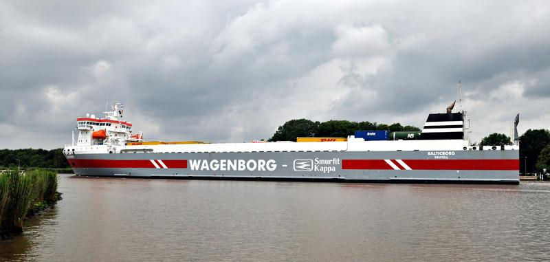BALTICBORG. Rakennettu 2004, Hollanti. 153x21m. Syväys 8,4m. Nopeus 17 solmua. Pääkone 1x Wärtsilä 9L46 9450 KW. Trailerikapasiteetti 109. Polttoainekapasiteetti: 706 m3. Wagenborg Shipping, Hollanti. Lippu: Hollanti.