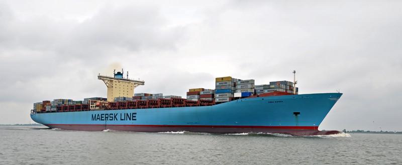 EBBA MAERSK. Rakennettu 2007, Tanska. 397x56m. Syväys 16m. Nopeus 24 solmua. Konttikapasiteetti 15500 TEU. Kylmäkontteja 1300. Pääkone RT-flex96C 80080 KW. Pääkoneen korkeus 13,5m ja pituus 26m. Omistaja Maersk Line, Tanska. Lippu: Tanska.