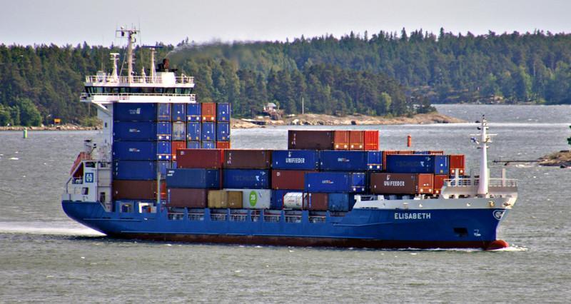 ELISABETH. Rakennettu 2000, J.J Sietas, Saksa. 118x18m. Konttikapasiteetti 658 TEU. Pääkone 8L40 5760 KW. Nopeus 17 solmua. Holwerda Shipmanagement, Hollanti. Lippu: Hollanti