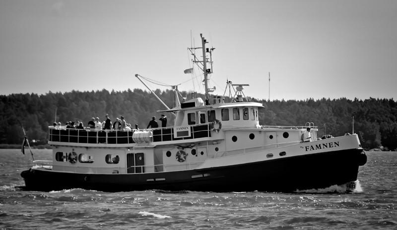 m/s Famnen. Rakennettu USA:ssa 1944 Normandian maihinnousua varten. 1957 Alus aloitti Pyhtää nimisen hoitamaan meriliikennettä Kotkan rannikkopatteristossa linnakesaarten (Kirkonmaa ja Rankki) ja mantereen välillä. Nykyääan tilautristeilyjä Turun saaristossa Famnen nimisenä. Rederi Famnen.