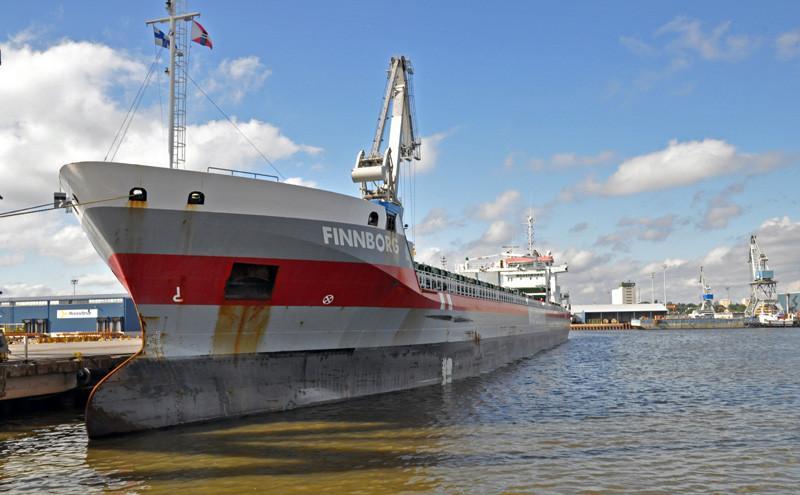 FINNBORG. Rakennettu 2011, Saksa. 143x17m. Syväys 8m. Pääkone Wärtsilä 9L32, 4500 KW. 2 lastiruumaa, 16579 m3. Omistaja: Finnborg BV; Hollanti. Operointi: Wagenborg Shipping, Hollanti. Lippu: Hollanti