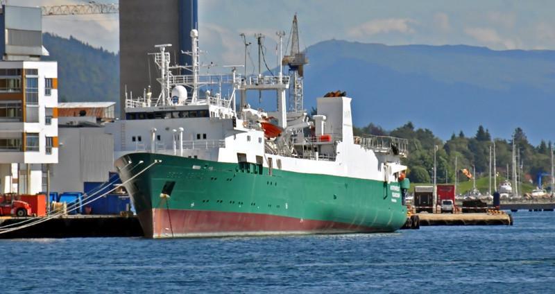 GECO SEARCHER. Rakennettu 1983, Norja. 100x20m. Tutkimus/pelastusalus. Lippu: Panama