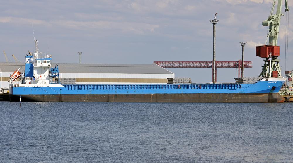 JEANETTE. Rakennettu 2007, Saksa. 110x14m. Kuivarahtialus. Omistaja Anet Shipping Hollanti. Lippu: Hollanti