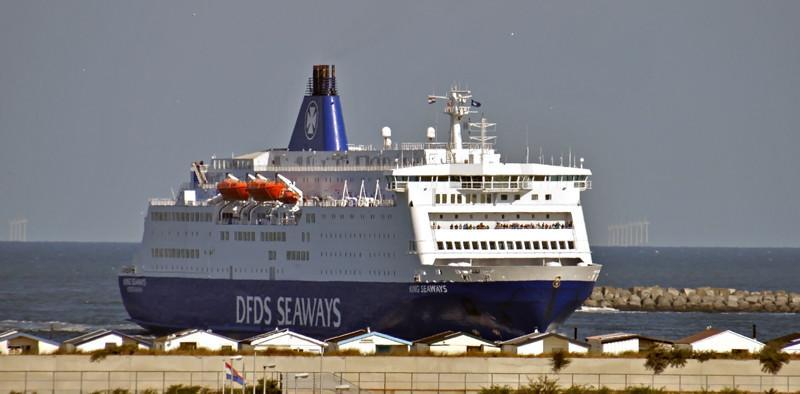 KING SEAWAYS. Rakennettu 1987, Saksa. 161x32m. Syväys 6,2m. Nopeus 21 solmua. DFDS Seaways. Lippu: Tanska