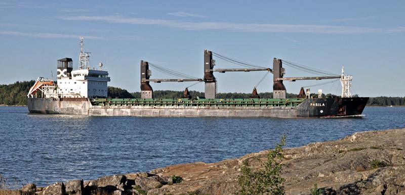 PASILA. Rakennettu 1995, Rauma. 137x21m. Syväys 8,19m. Pääkone Wärtsilä 8R46 6250 KW. Nopeus 14 solmua. Polttoaineen kulutus 17t/ 24h. (HFO). Lastikapasiteetti 16786 m3. Hiililastin purku 1000t/h. Jääluokka 1A super. Omistaja ESL- Shipping. Lippu: Suomi.
