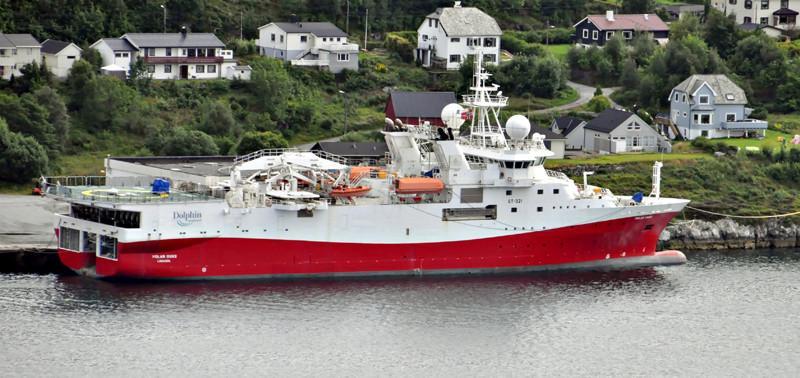 POLAR DUKE. Rakennettu 2010, Espanja. Tutkimusalus. 102x19m. Syväys 6,5m. Paaluveto 210 t. Omistaja: Skpsteknisk, Norja. Operointi: GC Rieber, Norja. Lippu: Kypros.